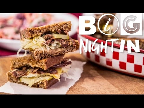 Reuben Sandwich & Purple Slaw Recipe | Big Night In