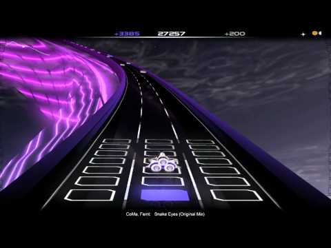 Snake Eyes Ft. CoMa (Original Mix) by Feint - Audiosurf Playthrough