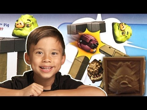 Angry Birds STAR WARS TOY - JABBA'S PALACE BATTLE GAME Review/Unboxing + Carbonite HAN SOLO Bird