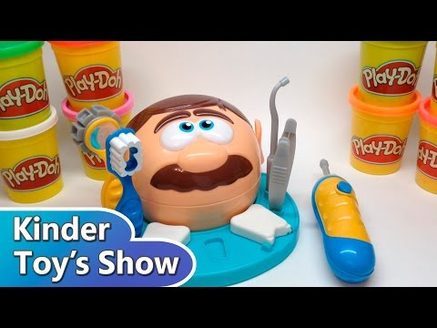 "Плей До пластилин, набор ""Доктор Зубастик"", играем в дантиста (Play Doh Dr. Drill and Fill)"