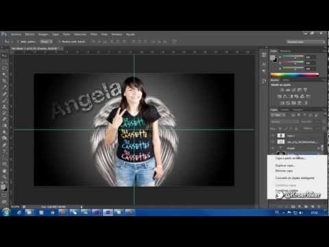 Composición ángel photoshop cs6 [Timelapse]