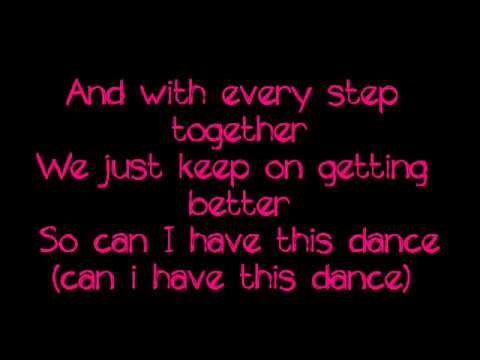 Can I Have This Dance-Zac Efron and Vanessa Hudgens Lyrics