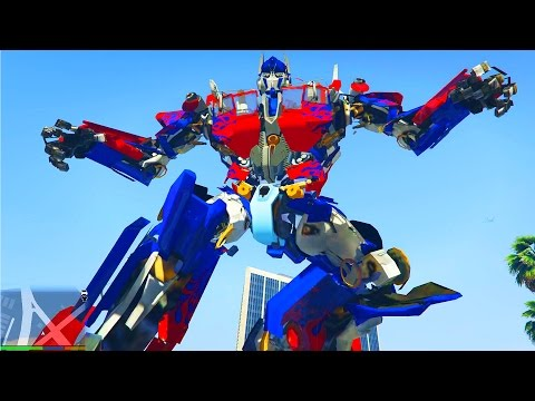 GTA 5 - TRANSFORMERS IN GTA 5 - OPTIMUS PRIME MOD (GTA 5)