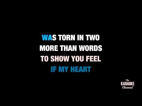 "More Than Words in the Style of ""Extreme"" karaoke video with lyrics (no lead vocal)"